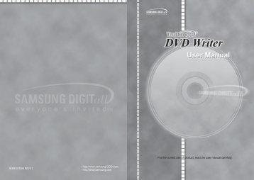 Samsung Internal Standard 23X DVD Writer SH-S223B (SH-S223B/BEWE ) - Manuel de l'utilisateur 2.73 MB, pdf, Anglais