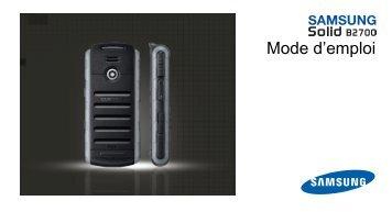 Samsung GT-B2700 (GT-B2700HAAXEF ) - Manuel de l'utilisateur 2.7 MB, pdf, Français