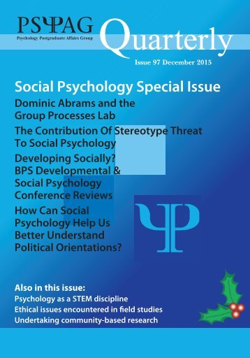 Social Psychology Special Issue