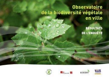 Observatoire de la biodiversité végétale en ville