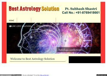 Best Astrology Solution
