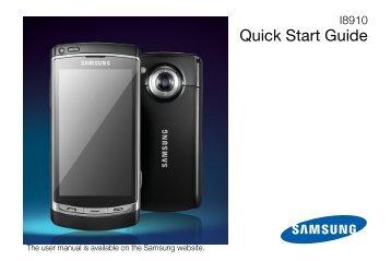 Samsung Samsung Player HD noir - Open market (GT-I8910DKAXEF ) - Manuel de l'utilisateur 1.36 MB, pdf, ANGLAIS (EUROPE)