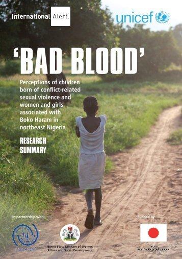 'BAD BLOOD'