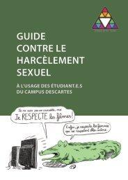 GUIDE CONTRE LE HARCÈLEMENT SEXUEL