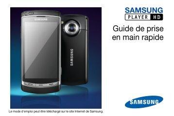 Samsung Samsung Player HD noir - Open market (GT-I8910DKAXEF ) - Manuel de l'utilisateur 1.47 MB, pdf, Français