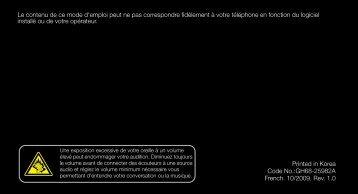 Samsung GT-B3210 (GT-B3210CWABOG ) - Manuel de l'utilisateur(Orange) 1.39 MB, pdf, Français