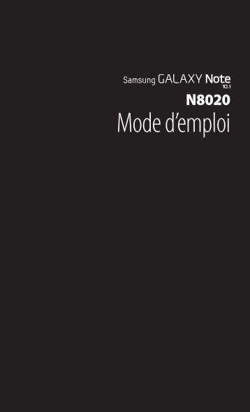 Samsung Galaxy Note (10.1, 4G) (GT-N8020EAAXEF ) - Manuel de l'utilisateur 13.72 MB, pdf, FRANÇAIS (Orange)