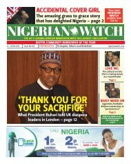 NIGERIAN WATCH