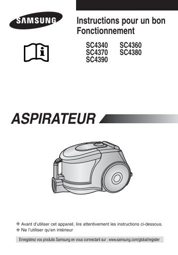 Samsung SC4380 (VCC4380V3B/XEF ) - Manuel de l'utilisateur 1.81 MB, pdf, Français