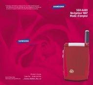 Samsung SGH-A400 (SWGA400BA/BOG ) - Guide WAP 0.15 MB, pdf, Français