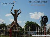 DRC WEEKLY SITREP