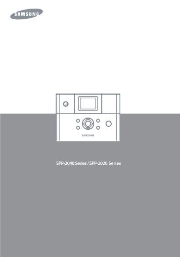Samsung SPP-2020 (SPP-2020/SEE ) - Manuel de l'utilisateur 11.74 MB, PDF, Français
