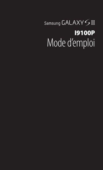 Samsung GT-I9100P (GT-I9100LKNBOG ) - Manuel de l'utilisateur 6.83 MB, pdf, FRANÇAIS (Orange)