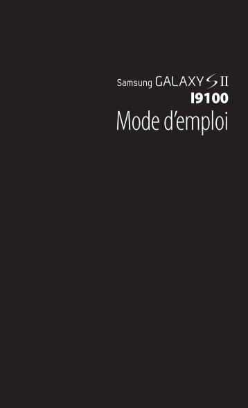 Samsung GT-I9100P (GT-I9100LKNBOG ) - Manuel de l'utilisateur(Icecream sandwich) 6.45 MB, pdf, FRANÇAIS (Orange)