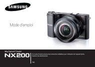 Samsung Samsung NX200 (EV-NX200ZBSBFR ) - Manuel de l'utilisateur 7.26 MB, pdf, Français