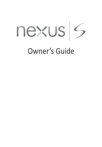 Samsung Galaxy Nexus S 4 pouces, 16 Go - GT-I9023 (GT-I9023FSAXEF ) - Manuel de l'utilisateur(Owner''''''''s Guide) 0.34 MB, pdf, ANGLAIS (EUROPE)