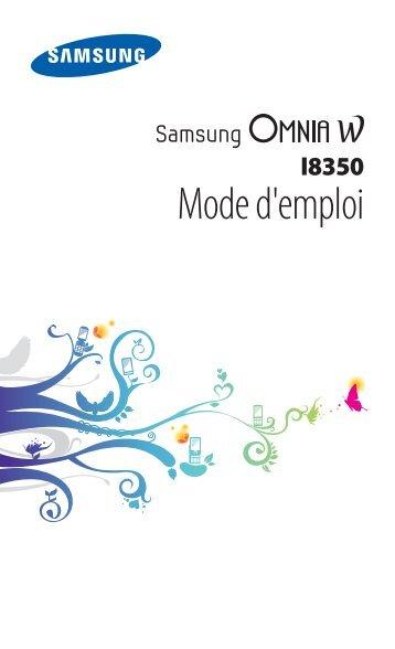 Samsung Samsung Omnia W noir - Open market (GT-I8350HKAXEF ) - Manuel de l'utilisateur 2.14 MB, pdf, Français