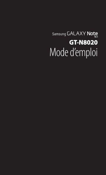 Samsung GT-N8020 (GT-N8020EAASFR ) - Manuel de l'utilisateur 13.32 MB, pdf, FRANÇAIS (Orange)