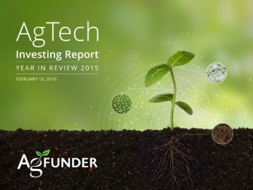 AGTECH INVESTING REPORT 2015