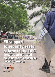 EU support to security sector reform in the DRC
