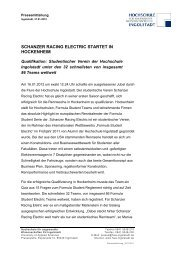schanzer racing electric startet in hockenheim - Formula Student ...