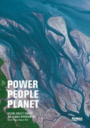 POWER PEOPLE PLANET Seizing Africa's energy and climate opportunities