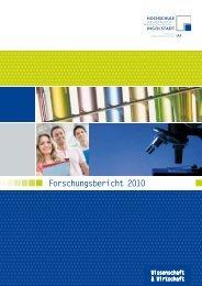 Forschungsbericht 2010 - Hochschule Ingolstadt
