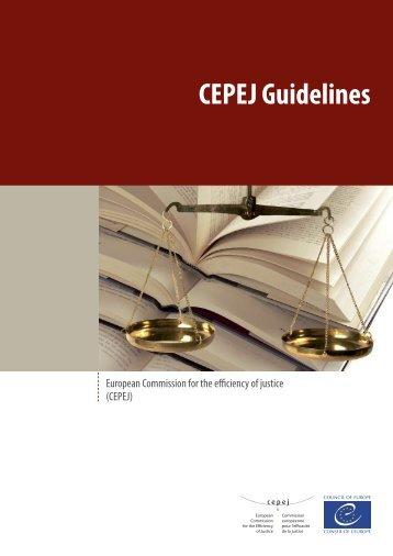 CEPEJ Guidelines