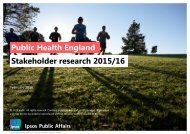 Stakeholder research 2015/16