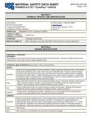 Halcyon Climaplus Ceiling Panels Msds Usg Corporation