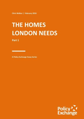 THE HOMES LONDON NEEDS
