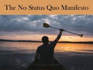 The No Status Quo Manifesto