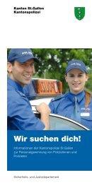 Broschüre Personalgewinnung (261 kb, PDF) - Kantonspolizei St ...