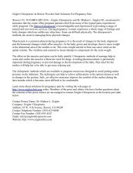 Zeigler Chiropractic In Denver Provides Safe Solutions For Pregnancy Pain