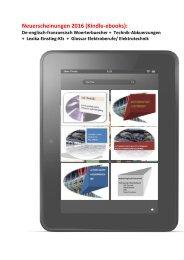Kindle ebooks: Neuerscheinungen 2016 (De-englisch-franzoesisch Woerterbuecher +  Technik-Abkuerzungen  +  Lexika Einstieg-Kfz  +  Glossar Elektroberufe/ Elektrotechnik / Automatiker