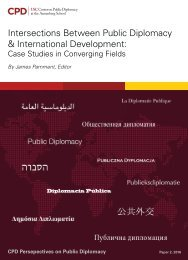 Intersections Between Public Diplomacy & International Development