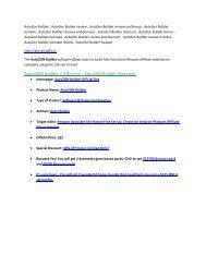 AutoZon Builder Review and $30000 Bonus-- AutoZon Builder 80% DISCOUNT