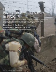 Paying for America's Wars in FY2017