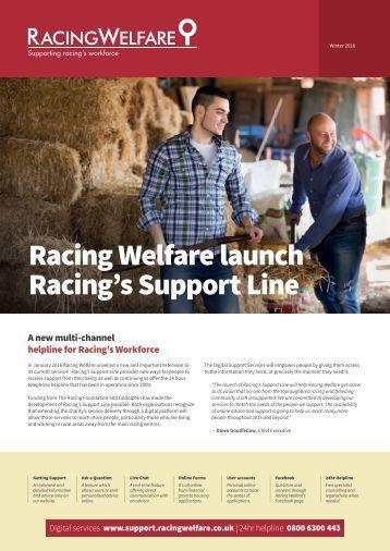 Racing Welfare launch Racing's Support Line