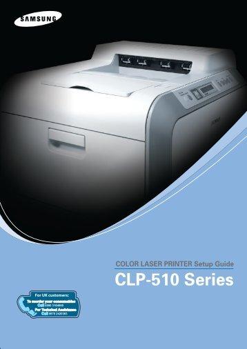 Samsung CLP-510N (CLP-510N/SEE ) - Manuel de l'utilisateur 9.59 MB, pdf, Anglais