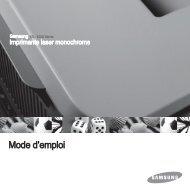 Samsung Toner laser standard Noir ML-4551NDR (ML-4551NDR/SEE ) - Manuel de l'utilisateur 6.88 MB, pdf, Français