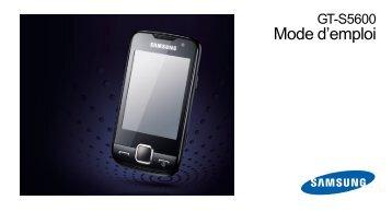 Samsung Samsung Player Star noir - Open market (GT-S5600TKAXEF ) - Manuel de l'utilisateur 4.48 MB, pdf, Français