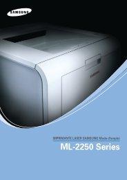 Samsung ML-2251NP (ML-2251NP/SEE ) - Manuel de l'utilisateur 7.73 MB, pdf, Français