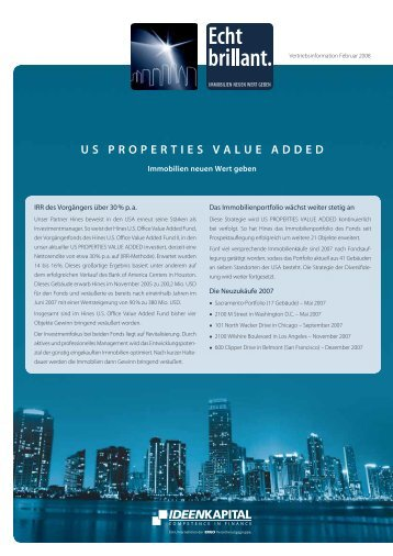 US PROPERTIES VALUE ADDED - Ideenkapital