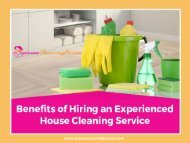 Benefits of Hiring a House Cleaning Expert