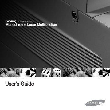 Samsung SCX-6345NJ (SCX-6345NJ/XEG ) - Manuel de l'utilisateur 10.48 MB, pdf, Anglais