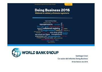 Co-autor del informe Doing Business