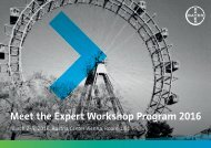 Meet the Expert Workshop Program 2016