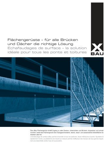Flächengerüste – für alle Brücken und Dächer die richtige Lösung ...