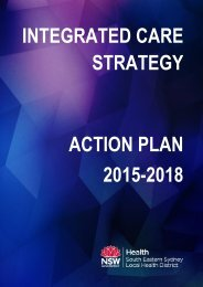 INTEGRATED CARE STRATEGY ACTION PLAN 2015-2018